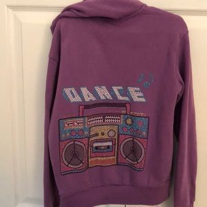 purple super soft by butter Sparkle Dance hoodie